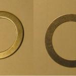 Passcheiben zweizehntel und Einmillimeter