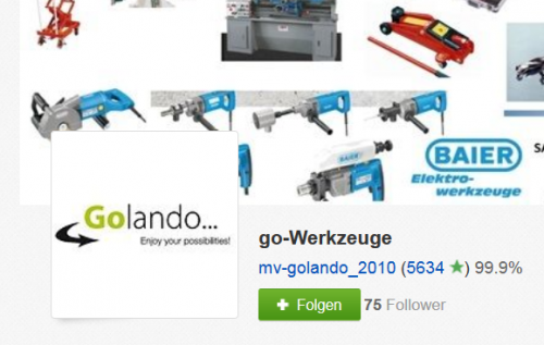 go-Werkzeuge auf Ebay